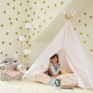 Land of Nod pink floral teepee